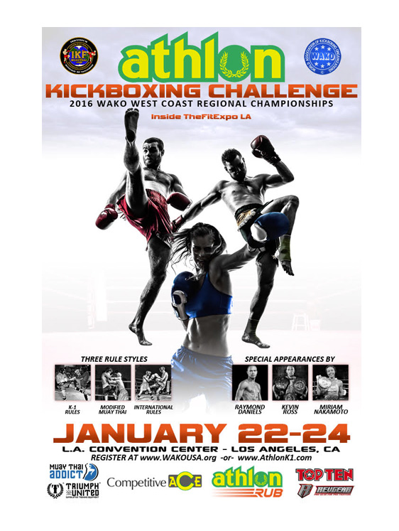 Results From WAKO West Coast Regional ATHLON Kickboxing Championships