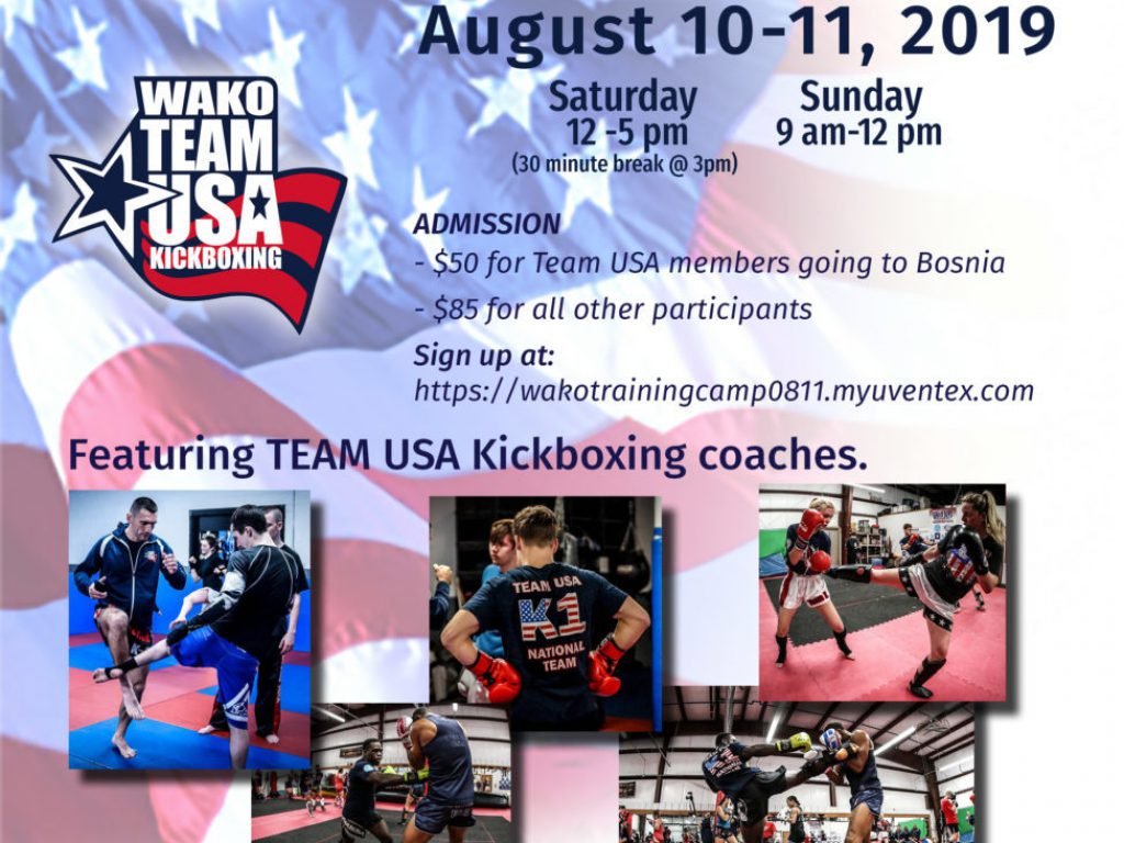 WAKO Team USA Official Kickboxing Training Camp