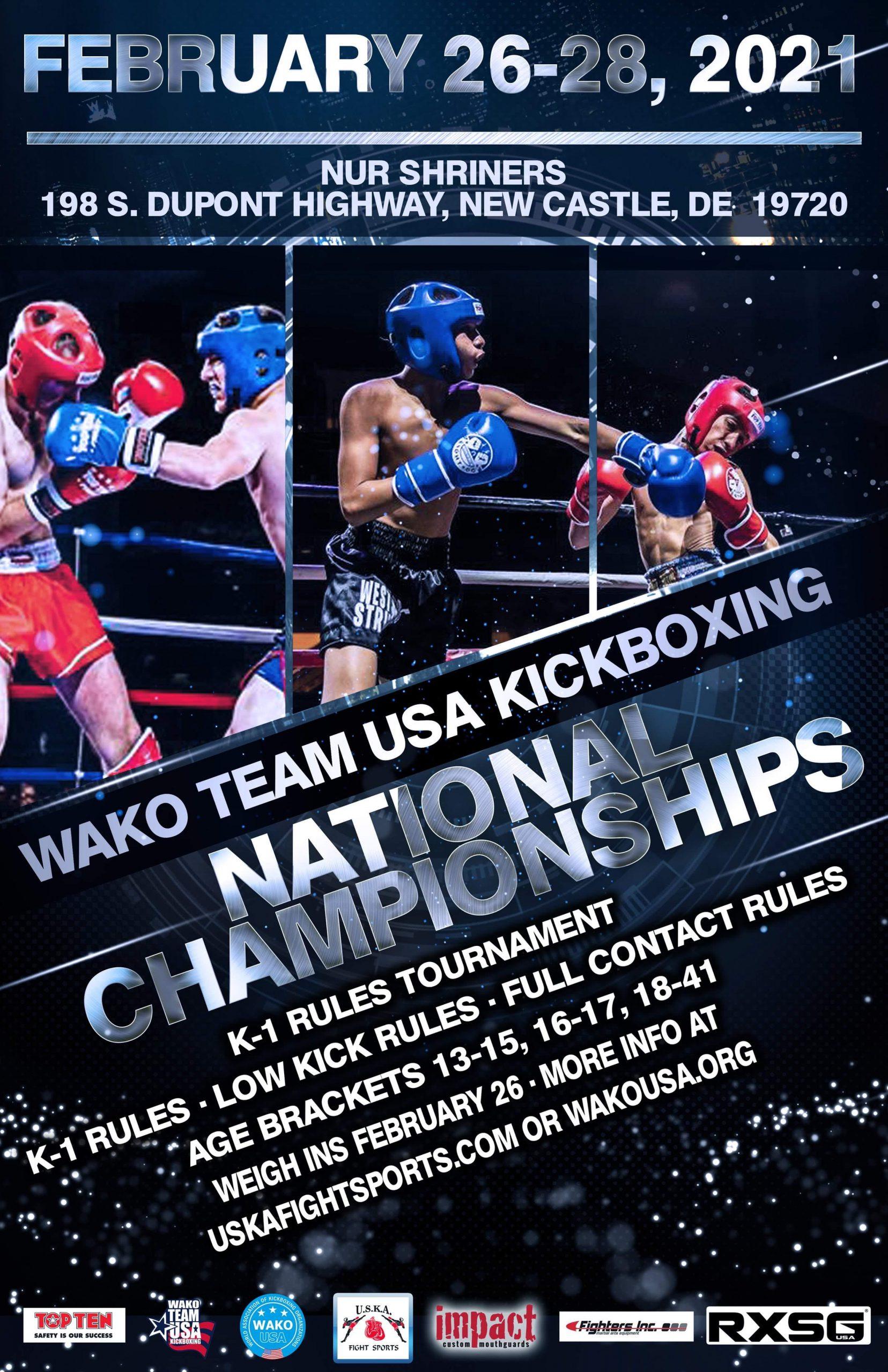 Feb 26 - 28, 2021 WAKO National Championship